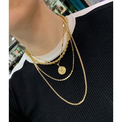 Colar Piastrine 60cm Ouro18k
