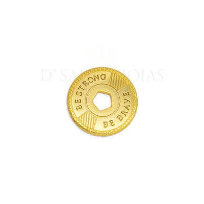 Pingente Rosca Be strong Be brave Ouro18k