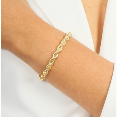 Pulseira malha italiana ( cordão baiano ) ouro 18k