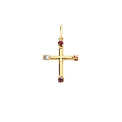 Pingente Crucifixo Ponta Cravejada Ouro18k
