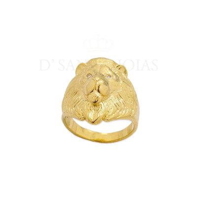 Anel Leão Ouro18k