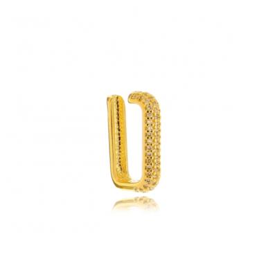 Piercing de encaixe modelo Ear hook micro Zirconias Ouro18k