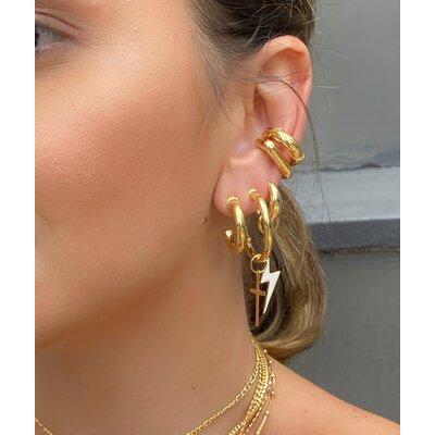 Piercing tubo com fio trancado ouro 18k