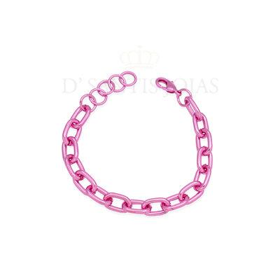 Pulseira Elos P Metalizada Pink