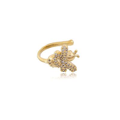 Piercing Abelha Cravejada Prata925 Ouro