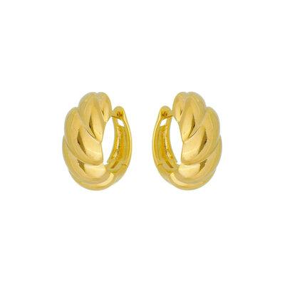 Argola Croissant Ouro18k