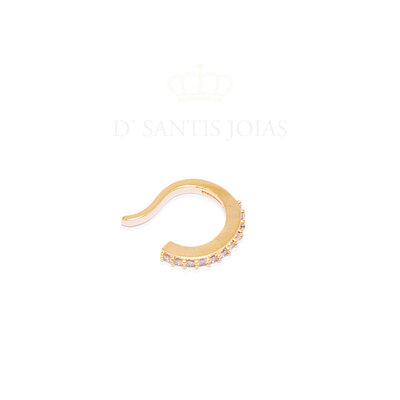 Piercing Cravejado delicado Basico Ouro18k