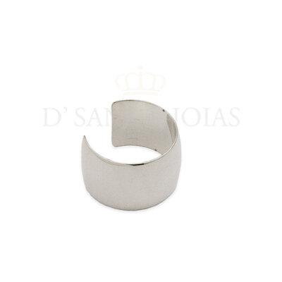 Piercing Plaquete liso ouro branco 18k