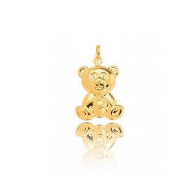Pingente Urso Teddy Liso Ouro
