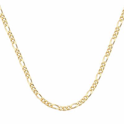 Corrente Figaro 50cm Ouro18k