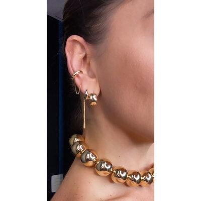 Piercing essential com brinco fio ouro18k