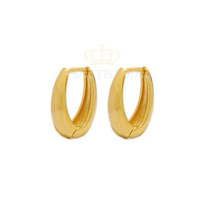 Argola Oval lisa Ouro18k