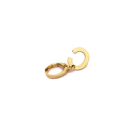 Argola Letra 1.2 cm Ouro UNITARIA