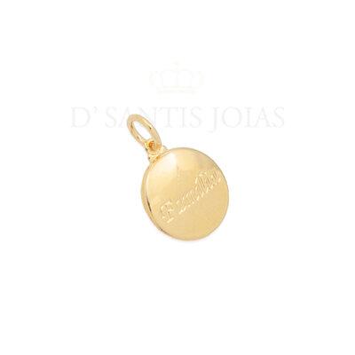 Pingente Medalha Familia Ouro18k