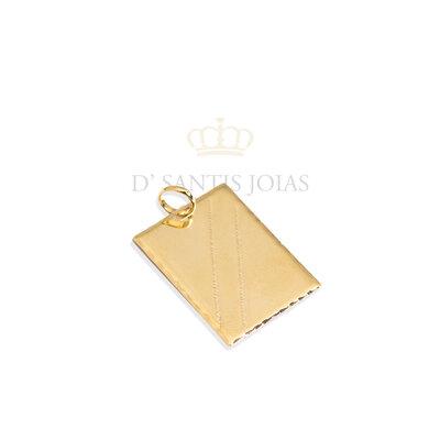 Pingente Placa Ouro lisa