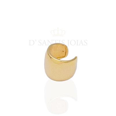 Piercing placa arredondada ouro 18k