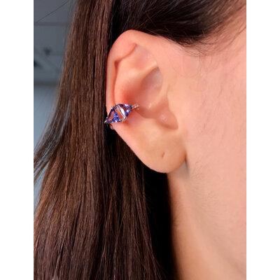 Piercing Triangular Ametista prata925