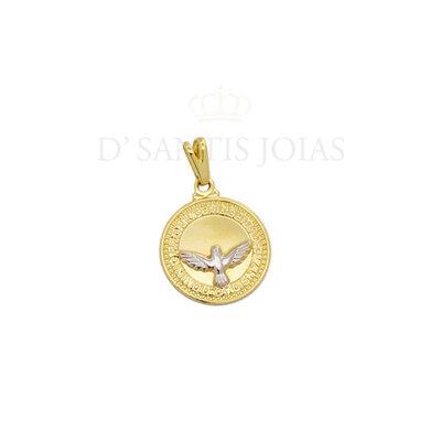 Pingente Medalha com divino Ouro