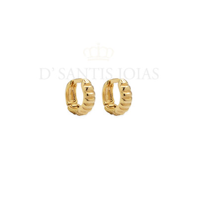 Argola Caracol pequena 1cm ouro18k