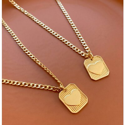 Colar corrente grumet placa Love ( escolha a cor ) ouro18k