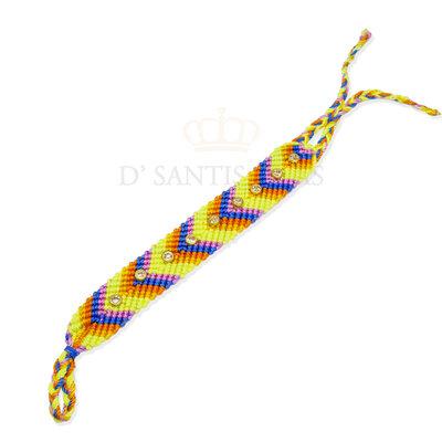 Pulseira Macrame pontos de luz Colors ( escolha a cor )