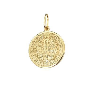 Pingente Medalha de São bento ouro 18k (escolha o tamanho)