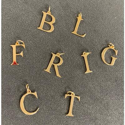 Pingente Letra Pequena Ouro18k (escolha a letra)