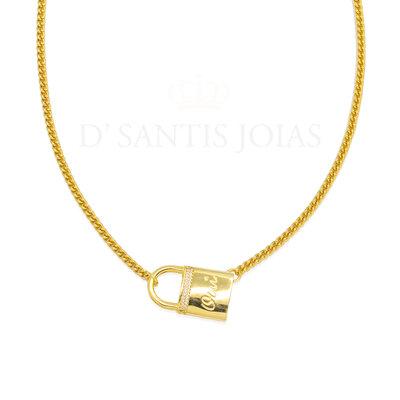 Colar Cadeado French Ouro18k