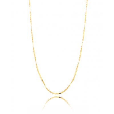 Colar Longo Delicado Chapado 60cm Ouro