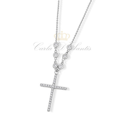 Colar Crucifixo Ponto Luz Prata925