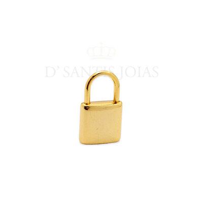 Pingente cadeado ( padlock ) Pequeno ouro 18k