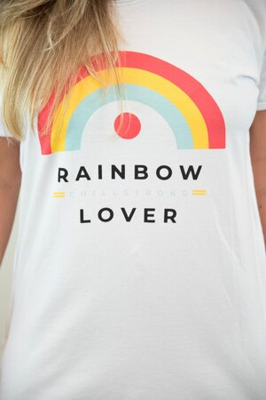 Tee Rainbow White