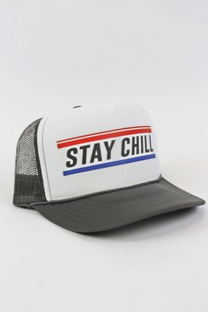 Boné Trucker Stay Chill Grey