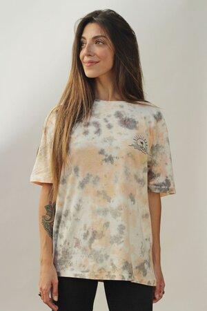 T-shirt Tie Dye White Oversized
