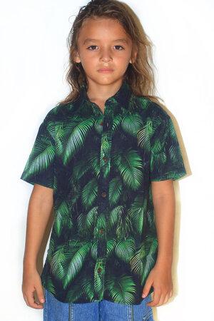Camisa Folhagem Infantil - Tal Pai Tal Filho