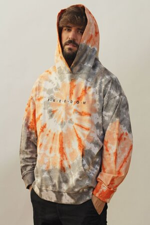 Moletom Tie Dye Orange Men