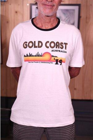 T-shirt Gold Coast Série Ao Fundo