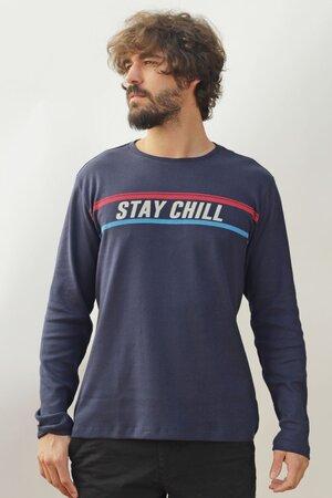 T-shirt Stay Chill Manga Longa