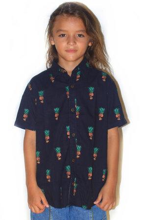 Camisa Pineapple Skull Infantil - Tal Pai Tal Filho