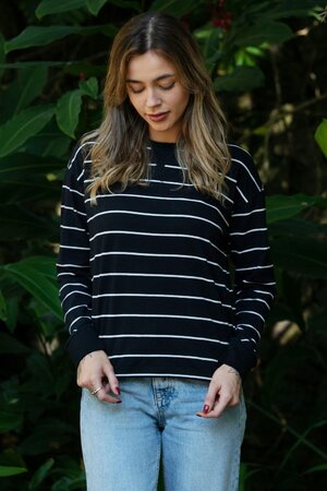 Moletinho Feminino White Stripes