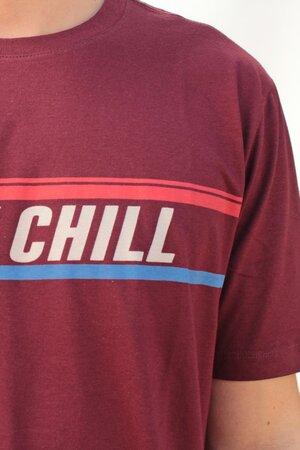 T-shirt Stay Chill Bordô Mens