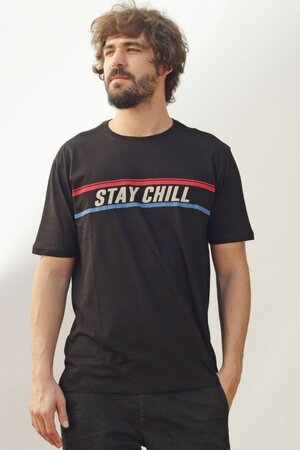 T-shirt Stay Chill Black Mens