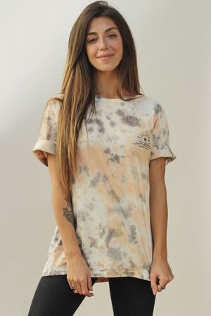 T-shirt Tie Dye White Oversized