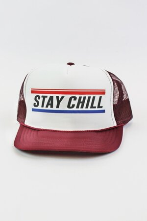 Boné Trucker Stay Chill Bordo