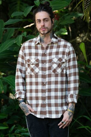 Camisa Masculina Xadrez Brown