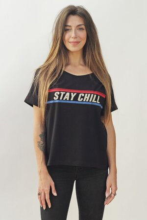 Tee Stay Chill Black Womens