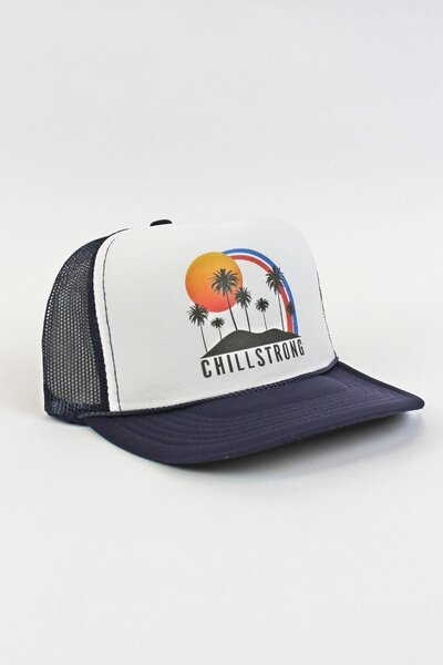 Boné Trucker Palm Trees Blue