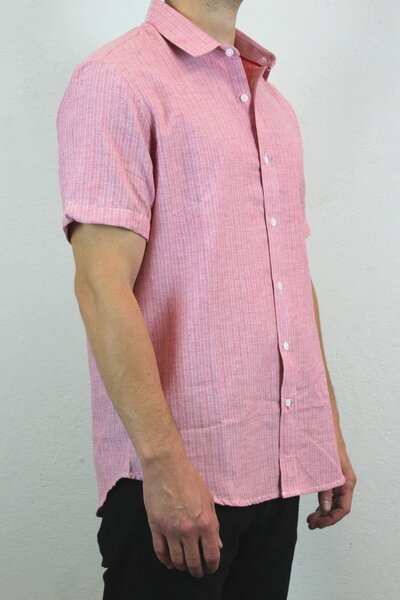 Camisa Masculina Salmon Basic