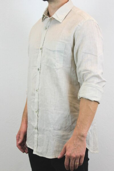 Camisa Masculina Linho OFF