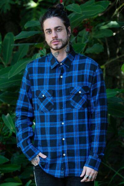 Camisa Masculina Xadrez Blue n' Black